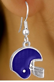W10929E - BLUE FOOTBALL HELMET<br>         EARRINGS AS LOW AS $2.40