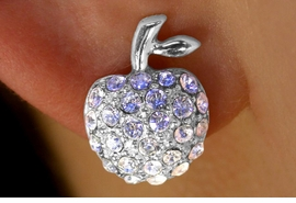 <bR>    W11471E - GENUINE AUSTRIAN CRYSTAL<br>CLIP-ON APPLE EARRINGS AS LOW AS $2.85