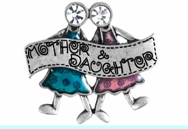 """W11698P - GENUINE AUSTRIAN CRYSTAL<br>            """"MOTHER & DAUGHTER"""" PIN<bR>                          AS LOW AS $3.05"""