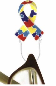 <br>   W12316EH - AUTISM AWARENESS<Br>RIBBON EYEGLASS/I.D. TAG HOLDER<bR>            PIN FROM $2.25 TO $5.00<BR>                               &#169;2005