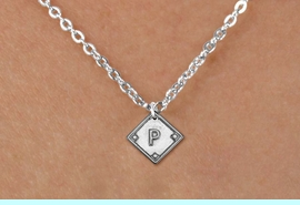 """<bR>                  CHILDREN'S SOFTBALL NECKLACE<BR>            <BR>             <BR>      LEAD, NICKEL & CADMIUM FREE <BR>PLAYERS POSITION AND TEAM NUMBER  <BR>   W1255N8 -  """"SOFTBALL DIAMOND"""" <Br>SILVER TONE CHARM & CHILDREN'S NECKLACE <BR>          $9.68 EACH �2012"""