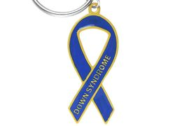 <bR> W13341KC - DOWN SYNDROME<Br>AWARENESS RIBBON KEY CHAIN<Br>                 AS LOW AS $2.70