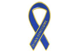 W13342P - DOWN SYNDROME<BR> AWARENESS RIBBON TAC PIN<Br>              AS LOW AS $2.50