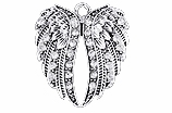 W1342SC - CRYSTAL ANGEL WINGS   $5.68 Each