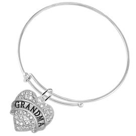 "<bR>                   EXCLUSIVELY OURS!!<Br>             AN ALLAN ROBIN DESIGN!!<BR>    CLICK HERE TO SEE 1000+ EXCITING<BR>       CHANGES THAT YOU CAN MAKE!<BR>       LEAD, NICKEL & CADMIUM FREE!!<BR>W1343SB9 - AUSTRIAN CRYSTAL ""GRANDMA"" <BR> HEART CHARM & THIN WIRE BRACELET <BR>           FROM $5.40 TO $9.85 �2012"