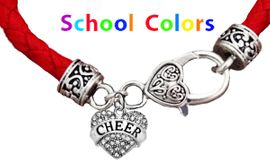 CHEERLEADER GENUINE RED LEATHER BRACELET WITH ANTIQUE <BR>CLASP WITH GENUINE CRYSTAL CHEER HEART<BR>NICKEL, LEAD, AND POISONOUS CADMIUM FREE<BR>IT IS WHAT YOU DO NOT SEE THAT MATTERS�<BR>W1408B36  $13.38 EACH �2020