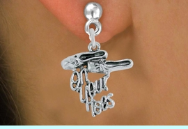 """<br>     WHOLESALE DANCE CHARM EARRINGS  <bR>                 EXCLUSIVELY OURS!!   <BR>            AN ALLAN ROBIN DESIGN!!   <BR>      CADMIUM, LEAD & NICKEL FREE!!   <BR>    W1413SE2 - DETAILED SILVER TONE   <Br>  """"ON YOUR TOES"""" BALLET SHOES CHARM  <BR>    ON SURGICAL STEEL POST EARRINGS   <BR>          FROM $3.65 TO $8.40 �2015"""