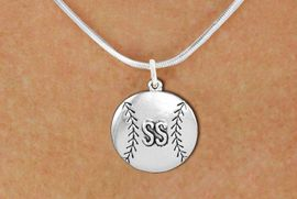 <br>   SOFTBALL NECKLACE - ADJUSTABLE <bR>                   <BR>             <BR>        CADMIUM, LEAD, & NICKEL FREE!! <BR> CUSTOMIZED WITH PLAYERS POSITION <BR>      W1503N2 - BEAUTIFUL SILVER TONE <BR>     CUSTOM SOFTBALL CHARM & NECKLACE <BR>             $9.68 EACH  �2013