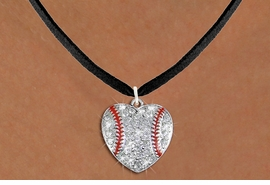 <BR> WHOLESALE SPORTS LOVER COSTUME JEWELRY <bR>                    EXCLUSIVELY OURS!! <Br>               AN ALLAN ROBIN DESIGN!! <BR>      CLICK HERE TO SEE 1000+ EXCITING <BR>            CHANGES THAT YOU CAN MAKE! <BR>         LEAD, NICKEL & CADMIUM FREE!! <BR> W1515SN - SPORTY SILVER TONE AND CLEAR <BR>   CRYSTAL BASEBALL HEART SHAPED CHARM <BR> AND NECKLACE FROM $5.40 TO $9.85 �2013