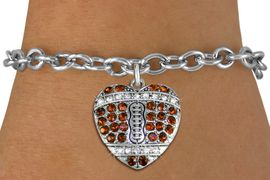 <BR>    WHOLESALE SPORTS FASHION JEWELRY <bR>                  EXCLUSIVELY OURS!! <Br>             AN ALLAN ROBIN DESIGN!! <BR>    CLICK HERE TO SEE 1000+ EXCITING <BR>          CHANGES THAT YOU CAN MAKE! <BR>       LEAD, NICKEL & CADMIUM FREE!! <BR>    W1517SB - SILVER TONE AND TOPAZ <BR>   CRYSTAL FOOTBALL HEART CHARM AND <BR>  BRACELET FROM $5.40 TO $9.85 �2013