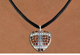 <BR> WHOLESALE SPORTS LOVER COSTUME JEWELRY <bR>                    EXCLUSIVELY OURS!! <Br>               AN ALLAN ROBIN DESIGN!! <BR>      CLICK HERE TO SEE 1000+ EXCITING <BR>            CHANGES THAT YOU CAN MAKE! <BR>         LEAD, NICKEL & CADMIUM FREE!! <BR> W1517SN - SPORTY SILVER TONE AND TOPAZ <BR> TONE CRYSTAL FOOTBALL HEART SHAPED CHARM <BR> AND NECKLACE FROM $5.40 TO $9.85 �2013