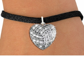 <BR>    WHOLESALE SPORTS FASHION JEWELRY <bR>                  EXCLUSIVELY OURS!! <Br>             AN ALLAN ROBIN DESIGN!! <BR>    CLICK HERE TO SEE 1000+ EXCITING <BR>          CHANGES THAT YOU CAN MAKE! <BR>       LEAD, NICKEL & CADMIUM FREE!! <BR>     W1520SB - SILVER TONE AND CLEAR <BR>  CRYSTAL VOLLEYBALL HEART CHARM AND <BR>  BRACELET FROM $5.40 TO $9.85 �2013