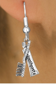 <BR> WHOLESALE DENTAL CARE FASHION EARRINGS <bR>                EXCLUSIVELY OURS!! <Br>           AN ALLAN ROBIN DESIGN!! <BR>     LEAD, NICKEL & CADMIUM FREE!! <BR>  W1522SE - ANTIQUED SILVER TONE WITH <BR> CRYSTAL TOOTHBRUSH & TOOTHPASTE CHARM <BR>   EARRINGS FROM $5.40 TO $10.45 �2013