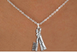 <BR>    WHOLESALE DENTAL CARE NECK JEWELRY <bR>                    EXCLUSIVELY OURS!! <Br>               AN ALLAN ROBIN DESIGN!! <BR>      CLICK HERE TO SEE 1000+ EXCITING <BR>            CHANGES THAT YOU CAN MAKE! <BR>         LEAD, NICKEL & CADMIUM FREE!! <BR>   W1522SN - ANTIQUED SILVER TONE WITH <BR> CRYSTAL TOOTHBRUSH & TOOTHPASTE CHARM <BR>     NECKLACE FROM $5.40 TO $9.85 �2013