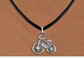 <BR>     WHOLESALE BICYCLING NECK JEWELRY <bR>                     EXCLUSIVELY OURS!! <Br>                AN ALLAN ROBIN DESIGN!! <BR>       CLICK HERE TO SEE 1000+ EXCITING <BR>             CHANGES THAT YOU CAN MAKE! <BR>          LEAD, NICKEL & CADMIUM FREE!! <BR>    W1524SN - ANTIQUED SILVER TONE AND <BR>    CLEAR CRYSTAL CLASSIC BICYCLE CHARM <BR>      NECKLACE FROM $5.40 TO $9.85 �2013