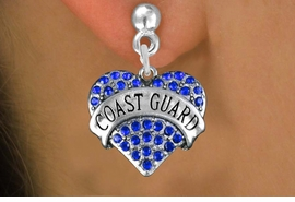 "<BR>           LEAD, NICKEL & CADMIUM FREE <BR>  W1528SE - ANTIQUED SILVER TONE AND <BR>BLUE CRYSTAL ""COAST GUARD"" HEART CHARM <BR>                         $12.68 EACH �2013"