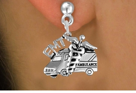 <br>        WHOLESALE EMT EARRINGS <bR>                 EXCLUSIVELY OURS!! <BR>            AN ALLAN ROBIN DESIGN!! <BR>      CADMIUM, LEAD & NICKEL FREE!! <BR>    W1530SE - DETAILED SILVER TONE <Br> EMT AMBULANCE CHARM EARRINGS <BR>          FROM $3.65 TO $8.40 �2013