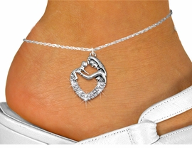 <bR>    WHOLESALE MOTHER FASHION JEWELRY <BR>                   EXCLUSIVELY OURS!! <BR>              AN ALLAN ROBIN DESIGN!! <BR>        LEAD, NICKEL & CADMIUM FREE!! <BR>  W1539SAK - DETAILED SILVER TONE AND <BR> CLEAR CRYSTAL MOTHER AND CHILD CHARM <Br>AND ANKLET FROM $4.70 TO $9.35 �2013