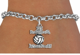 """<br>   WHOLESALE SPORTS FASHION BRACELET <bR>                    EXCLUSIVELY OURS!!<BR>               AN ALLAN ROBIN DESIGN!!<BR>      CLICK HERE TO SEE 1600+ EXCITING<BR>            CHANGES THAT YOU CAN MAKE!<BR>         CADMIUM, LEAD & NICKEL FREE!!<BR>     W1546SB - BEAUTIFUL SILVER TONE <Br>""""IF I BELIEVE IT, I CAN DO IT!"""" CHARM & BRACELET <BR>             FROM $4.50 TO $8.35 �2013"""