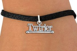 """<br> WHOLESALE COSTUME FASHION BRACELET <bR>                    EXCLUSIVELY OURS!!<BR>               AN ALLAN ROBIN DESIGN!!<BR>      CLICK HERE TO SEE 1000+ EXCITING<BR>            CHANGES THAT YOU CAN MAKE!<BR>         CADMIUM, LEAD & NICKEL FREE!!<BR>     W1551SB - BEAUTIFUL SILVER TONE <Br>""""TWIRLER"""" WITH BATON CHARM & BRACELET <BR>             FROM $4.50 TO $8.35 �2013"""