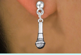 <br>SINGER'S MICROPHONE CHARM EARRINGS <bR>                 EXCLUSIVELY OURS!! <BR>            AN ALLAN ROBIN DESIGN!! <BR>      CADMIUM, LEAD & NICKEL FREE!! <BR>    W1554E2 - DETAILED 3D SILVER TONE <Br>         MICROPHONE CHARM EARRINGS <BR>                       $12.68 EACH �2014