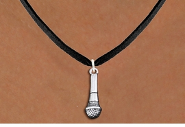 <br>  SPEAKER'S / SINGER'S MICROPHONE <br>                ADJUSTABLE NECKLACE<bR>                   EXCLUSIVELY OURS!! <BR>                AN ALLAN ROBIN DESIGN!! <BR>        CADMIUM, LEAD & NICKEL FREE!! <BR>  W1554N3 - DETAILED 3D SILVER TONE <BR> MICROPHONE CHARM & NECKLACE <BR>                         $8.38 EACH  �2014