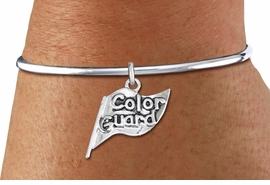 "<bR>    WHOLESALE FASHION CHARM BRACELET <BR>                     EXCLUSIVELY OURS!! <BR>                AN ALLAN ROBIN DESIGN!! <BR>          CADMIUM, LEAD & NICKEL FREE!! <BR>        W1555SB - DETAILED 3D SILVER TONE  <BR>""COLOR GUARD"" FLAG CHARM & SOLID WIRE <BR>      BRACELET FROM $4.40 TO $9.20 �2014"