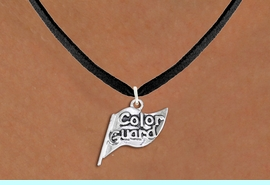 """<br>      WHOLESALE FASHION CHARM JEWELRY <bR>                   EXCLUSIVELY OURS!! <BR>         AN ALLAN ROBIN DESIGN!! <BR>   CLICK HERE TO SEE 1000+ EXCITING <BR>      CHANGES THAT YOU CAN MAKE! <BR>        CADMIUM, LEAD & NICKEL FREE!! <BR>  W1555SN - DETAILED 3D SILVER TONE <BR>""""COLOR GUARD"""" FLAG CHARM & NECKLACE <BR>             FROM $4.85 TO $8.30 �2014"""