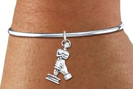 <bR>    WHOLESALE FASHION CHARM BRACELET <BR>                     EXCLUSIVELY OURS!! <BR>                AN ALLAN ROBIN DESIGN!! <BR>          CADMIUM, LEAD & NICKEL FREE!! <BR>        W1556SB - DETAILED 3D SILVER TONE  <BR>ACADEMY ACTING AWARD CHARM & SOLID WIRE <BR>      BRACELET FROM $4.40 TO $9.20 �2014
