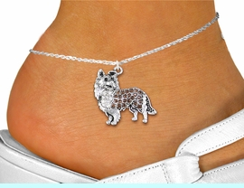 <bR>      WHOLESALE FASHION COSTUME JEWELRY <BR>                     EXCLUSIVELY OURS!! <BR>                AN ALLAN ROBIN DESIGN!! <BR>          LEAD, NICKEL & CADMIUM FREE!! <BR>     W1564SAK - SILVER TONE CLEAR AND <BR>TOPAZ TONE CRYSTAL COLLIE DOG CHARM <Br>   AND ANKLET FROM $4.70 TO $9.35 �2014