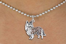 <BR>       WHOLESALE FASHION DOGJEWELRY <bR>                     EXCLUSIVELY OURS!! <Br>                AN ALLAN ROBIN DESIGN!! <BR>       CLICK HERE TO SEE 1000+ EXCITING <BR>             CHANGES THAT YOU CAN MAKE! <BR>          LEAD, NICKEL & CADMIUM FREE!! <BR>  W1564SN - ANTIQUED SILVER TONE CLEAR AND <BR>TOPAZ CRYSTAL COLLIE DOG CHARM <BR>      NECKLACE FROM $5.40 TO $9.85 �2014