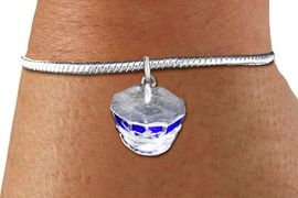 <bR>    WHOLESALE FASHION CHARM BRACELET <BR>                     EXCLUSIVELY OURS!! <BR>                AN ALLAN ROBIN DESIGN!! <BR>          CADMIUM, LEAD & NICKEL FREE!! <BR> W1568SB - DETAILED 3D SILVER TONE AND BLUE <BR>COLOR FILL POLICE CAP CHARM & SNAKE CHAIN<BR>      BRACELET FROM $4.40 TO $9.20 �2014