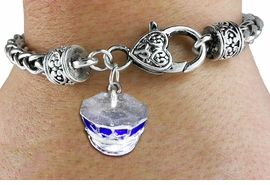 <bR>    WHOLESALE FASHION CHARM BRACELET <BR>                     EXCLUSIVELY OURS!! <BR>                AN ALLAN ROBIN DESIGN!! <BR>          CADMIUM, LEAD & NICKEL FREE!! <BR>        W1568SB - DETAILED 3D SILVER TONE AND<BR>BLUE COLOR POLICE CAP CHARM & HEART <BR> CLASP BRACELET FROM $4.40 TO $9.20 �2014