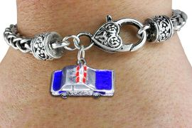 <bR>    WHOLESALE FASHION CHARM BRACELET <BR>                     EXCLUSIVELY OURS!! <BR>                AN ALLAN ROBIN DESIGN!! <BR>          CADMIUM, LEAD & NICKEL FREE!! <BR>        W1569SB - DETAILED 3D SILVER TONE WITH<BR> RED AND BLUE COLOR POLICE CAR CHARM & HEART <BR> CLASP BRACELET FROM $4.40 TO $9.20 �2014