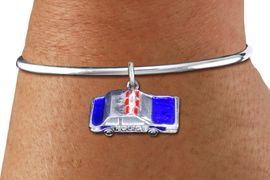 <bR>    WHOLESALE FASHION CHARM BRACELET <BR>                     EXCLUSIVELY OURS!! <BR>                AN ALLAN ROBIN DESIGN!! <BR>          CADMIUM, LEAD & NICKEL FREE!! <BR>W1569SB - DETAILED 3D SILVER TONE WITH RED AND <BR>BLUE COLOR FILL POLICE CAR CHARM & SOLID WIRE <BR>      BRACELET FROM $4.40 TO $9.20 �2014