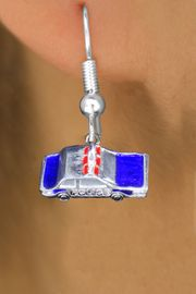 <br>     WHOLESALE DANCE CHARM EARRINGS <bR>                 EXCLUSIVELY OURS!! <BR>            AN ALLAN ROBIN DESIGN!! <BR>      CADMIUM, LEAD & NICKEL FREE!! <BR>    W1569SE - DETAILED SILVER TONE WITH RED AND <Br>BLUE COLOR FILL POLICE CAR CHARM EARRINGS <BR>          FROM $3.65 TO $8.40 �2014