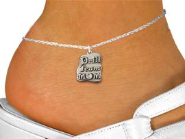 """<bR>       WHOLESALE FASHION ANKLET JEWELRY <BR>                  EXCLUSIVELY OURS!! <BR>             AN ALLAN ROBIN DESIGN!! <BR>       CADMIUM, LEAD & NICKEL FREE!! <BR>    W1570SAK - DETAILED SILVER TONE <Br>   """"DRILL TEAM MOM"""" CHARM & ANKLET <BR>           FROM $3.65 TO $8.30 �2014"""