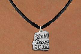 """<br>      WHOLESALE FASHION POLICE JEWELRY <bR>                   EXCLUSIVELY OURS!! <BR>         AN ALLAN ROBIN DESIGN!! <BR>   CLICK HERE TO SEE 1000+ EXCITING <BR>      CHANGES THAT YOU CAN MAKE! <BR>        CADMIUM, LEAD & NICKEL FREE!! <BR>   W1570SN - DETAILED 3D SILVER TONE <BR>""""DRILL TEAM MOM"""" CHARM & NECKLACE <BR>             FROM $4.85 TO $8.30 �2014"""