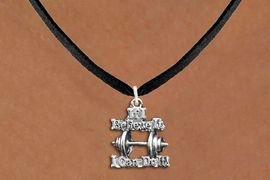 """<br>      WHOLESALE FASHION SPORTS JEWELRY <bR>                   EXCLUSIVELY OURS!! <BR>         AN ALLAN ROBIN DESIGN!! <BR>   CLICK HERE TO SEE 1000+ EXCITING <BR>      CHANGES THAT YOU CAN MAKE! <BR>        CADMIUM, LEAD & NICKEL FREE!! <BR>W1573SN - 3D SILVER TONE """"IF I BELIEVE IT,<BR> I CAN DO IT!"""" WEIGHTLIGHTING CHARM & <BR>NECKLACE  FROM $4.85 TO $8.30 �2014"""