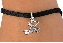 "<br>WHOLESALE MUSIC & DANCE CHARM BRACELET <bR>                    EXCLUSIVELY OURS!!<BR>               AN ALLAN ROBIN DESIGN!!<BR>      CLICK HERE TO SEE 1000+ EXCITING<BR>            CHANGES THAT YOU CAN MAKE!<BR>         CADMIUM, LEAD & NICKEL FREE!!<BR>     W1574SB - DETAILED 3D SILVER TONE <Br>""I LOVE JAZZ"" CHARM & BRACELET <BR>             FROM $4.50 TO $8.35 �2014"