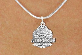 <br>WHOLESALE ARMED FORCES FASHION JEWELRY <bR>                   EXCLUSIVELY OURS!! <BR>         AN ALLAN ROBIN DESIGN!! <BR>   CLICK HERE TO SEE 1000+ EXCITING <BR>      CHANGES THAT YOU CAN MAKE! <BR>        CADMIUM, LEAD & NICKEL FREE!! <BR>  W1575SN - DETAILED 3D SILVER TONE <BR>U.S. AIRFORCE INSIGNIA CHARM & NECKLACE <BR>             FROM $4.85 TO $8.30 �2014