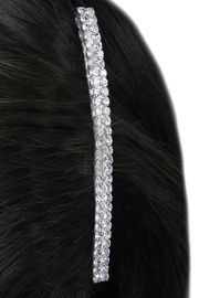 W15946HJ - DOUBLE-ROW GENUINE<Br>     AUSTRIAN CRYSTAL HAIR COMB<Br>                FROM $2.81 TO $6.25