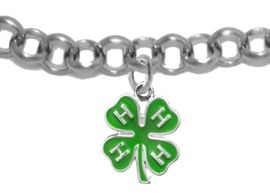 <BR><B>4-H CLUB ADJUSTABLE ROLLO CHAIN BRACELET</B> <BR> <BR> HYPOALLERGENIC-SAFE<BR>NO NICKEL NO LEAD AND NO POISONOUS CADMIUM<BR>W1595B2  $9.68 EACH  �2019