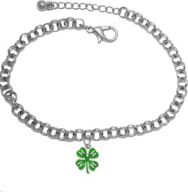 <BR><B>4-H CLUB ADJUSTABLE ROLLO CHAIN BRACELET</B>