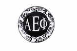 "W1640SC - ALPHA EPSILON PHI BLACK AND WHITE FLORAL DISK CHARM<BR><FONT size=""2"">Buy 1-2 for $6.25 Each<br>Buy 3-5 for $5.63 Each<br>Buy 6-11 for $3.75 Each<br>Buy 12-23 for $3.56 Each<br>Buy 24-49 for $3.31 Each<br>Buy 50 or More for $2.94 Each</font>"