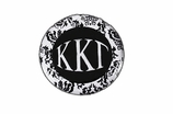 "W1652SC - KAPPA KAPPA GAMMA BLACK AND WHITE FLORAL DISK CHARM<BR><FONT size=""2"">Buy 1-2 for $6.25 Each<br>Buy 3-5 for $5.63 Each<br>Buy 6-11 for $3.75 Each<br>Buy 12-23 for $3.56 Each<br>Buy 24-49 for $3.31 Each<br>Buy 50 or More for $2.94 Each</font>"