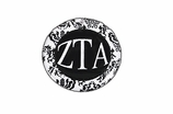 "W1659SC - ZETA TAU ALPHA BLACK AND WHITE FLORAL DISK CHARM<BR><FONT size=""2"">Buy 1-2 for $6.25 Each<br>Buy 3-5 for $5.63 Each<br>Buy 6-11 for $3.75 Each<br>Buy 12-23 for $3.56 Each<br>Buy 24-49 for $3.31 Each<br>Buy 50 or More for $2.94 Each</font>"