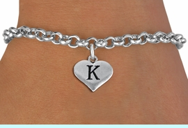 <BR>NICKEL FREE & ADJUSTABLE BRACELET !<br>       PERSONALIZED INITIAL BRACELET <bR>                  EXCLUSIVELY OURS!! <Br>             AN ALLAN ROBIN DESIGN!! <BR>    CLICK HERE TO SEE 1000+ EXCITING <BR>          CHANGES THAT YOU CAN MAKE! <BR>                LEAD & NICKEL FREE!! <BR>W1669SB - SILVER TONE HEART SHAPED  <BR>ALPHABET INITIAL CHARM ON YOUR  <Br>CHOICE OF BRACELET FROM $4.15 TO $8.00