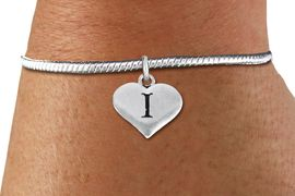 <BR>                  NICKEL FREE  BRACELET !<br>       PERSONALIZED INITIAL BRACELET <bR>                  EXCLUSIVELY OURS!! <Br>             AN ALLAN ROBIN DESIGN!! <BR>    CLICK HERE TO SEE 1000+ EXCITING <BR>          CHANGES THAT YOU CAN MAKE! <BR>                LEAD & NICKEL FREE!! <BR>W1669SB - SILVER TONE HEART SHAPED  <BR>ALPHABET INITIAL CHARM ON YOUR  <Br>CHOICE OF BRACELET FROM $4.15 TO $8.00