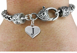 <BR>                  NICKEL FREE  BRACELET !<br>       PERSONALIZED INITIAL BRACELET <bR>                  EXCLUSIVELY OURS!! <Br>             AN ALLAN ROBIN DESIGN!! <BR>    CLICK HERE TO SEE 1000+ EXCITING <BR>          CHANGES THAT YOU CAN MAKE! <BR>                LEAD & NICKEL FREE!! <BR>W1669SB - SILVER TONE HEART SHAPED  <BR>ALPHABET INITIAL CHARM ON HEART SHAPED  <Br>LOBSTER CLASP BRACELET FROM $4.15 TO $8.00